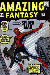 Spider-Man's first appearance - Amazing Fantasy, Aug. 1962