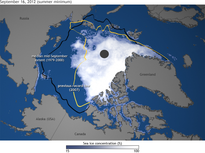 Global warming? Satellite data shows Arctic sea ice coverage up 50 percent!
