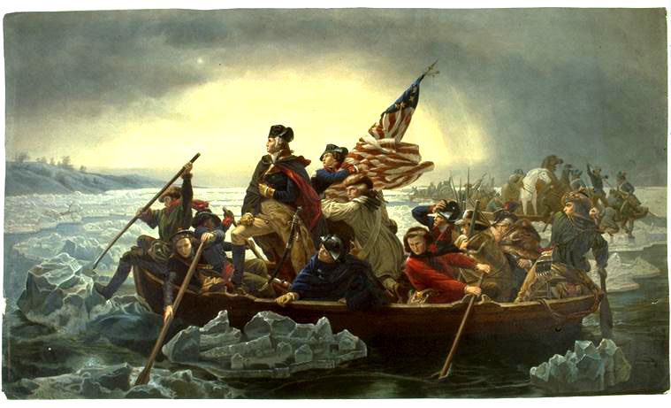 Washington crossed the Delaware River on Christmas night 1776
