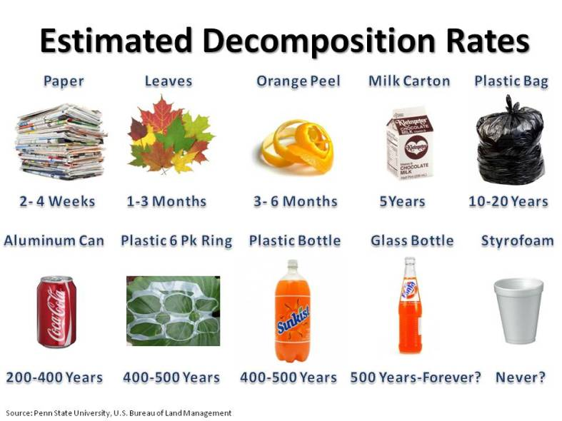 Estimated Decomposition Rates