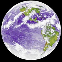 Infrared image of Earth.