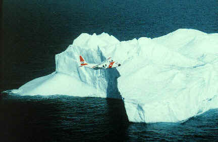 iceberg coast guard plane