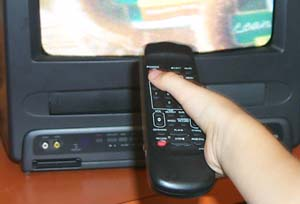 Image of a television remote control